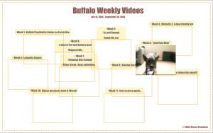 Buffalo Weekly Videos - web art by Alysse Stepanian