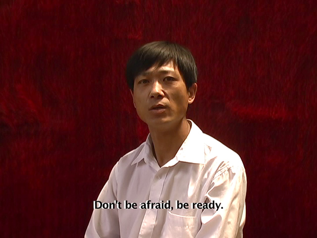 """""""Don't be afraid, be ready"""" A BOX 1035 multimedia installation (Alysse Stepanian & Philip Mantione) in Beijing."""